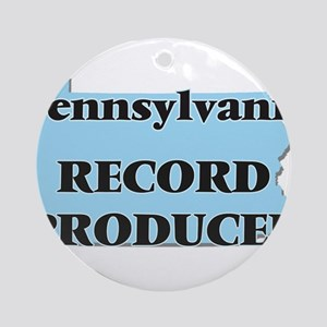 Pennsylvania Record Producer Round Ornament