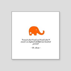 """SFE Elephant - Square Sticker 3"""" x 3"""""""