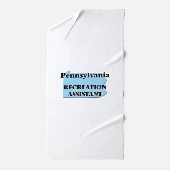 Pennsylvania Recreation Assistant Beach Towel