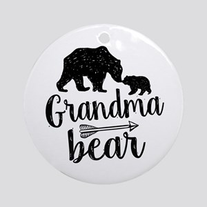 Grandma Bear Round Ornament