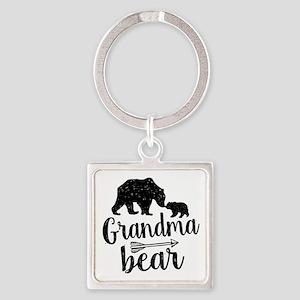 Grandma Bear Square Keychain