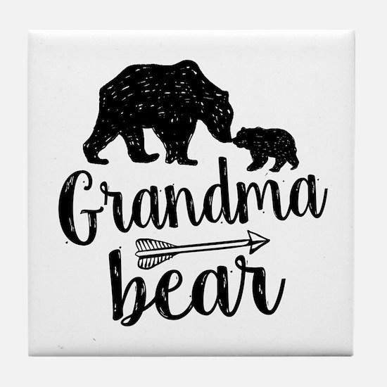 Grandma Bear Tile Coaster