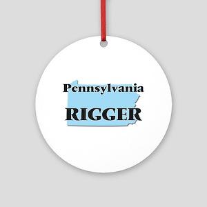 Pennsylvania Rigger Round Ornament