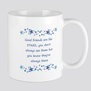 Good Friends are like Stars Inspirational Quote Mu