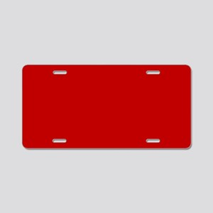 JUST COLORS: RED Aluminum License Plate