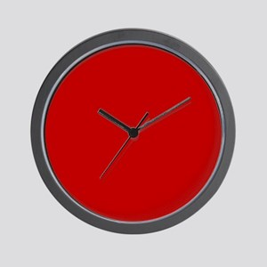JUST COLORS: RED Wall Clock