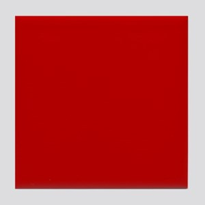 JUST COLORS: RED Tile Coaster