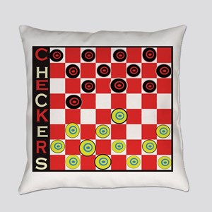 Play Checkers Everyday Pillow