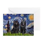 Starry Night & Schipperke Greeting Cards (Pk of 20