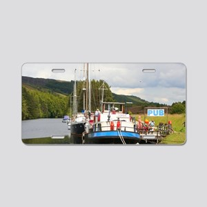 Eagle Inn pub barge, Scotla Aluminum License Plate