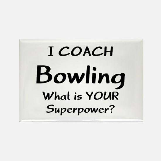 coach bowling Rectangle Magnet