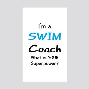 swim coach Sticker (Rectangle)