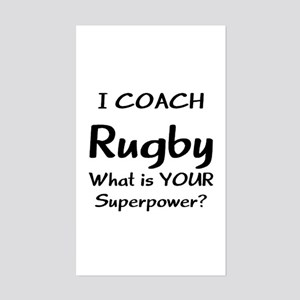 rugby coach Sticker (Rectangle)