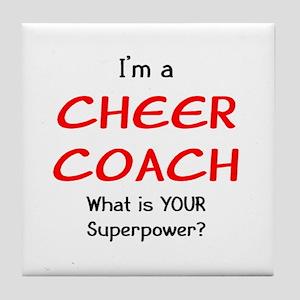 cheer coach Tile Coaster