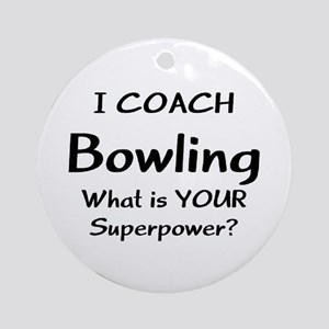 coach bowling Round Ornament