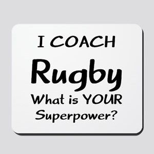 rugby coach Mousepad