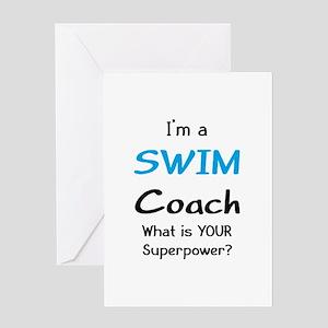 swim coach greeting card
