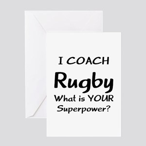 rugby coach Greeting Card
