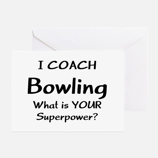 coach bowling Greeting Card