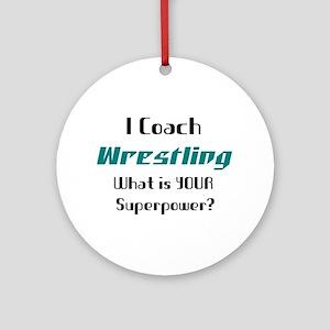 coach wrestling Round Ornament