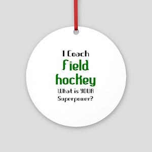 coach field hockey Round Ornament