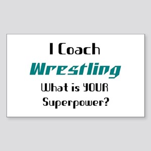 coach wrestling Sticker (Rectangle)