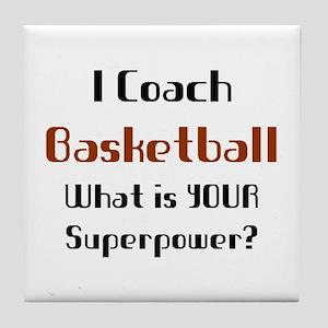 coach basketball Tile Coaster