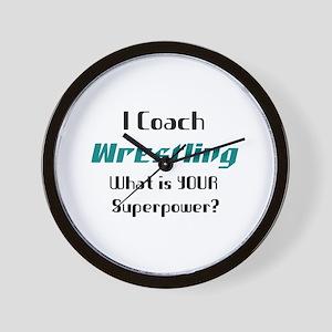 coach wrestling Wall Clock