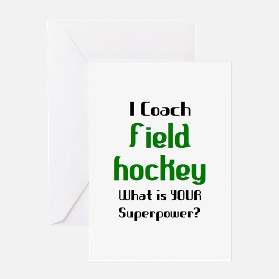 coach field hockey Greeting Card
