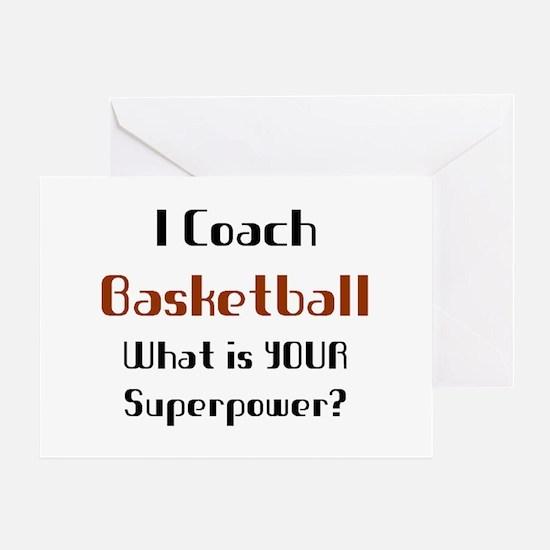 coach basketball Greeting Card