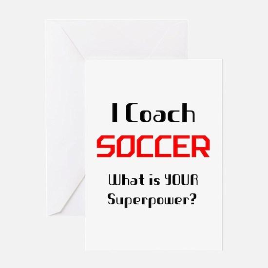 coach soccer Greeting Card