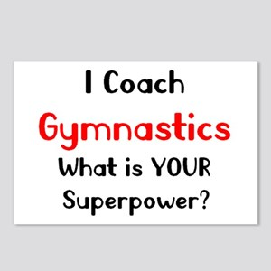 coach gymnastics Postcards (Package of 8)