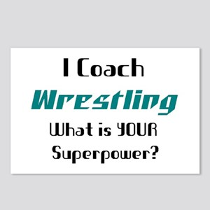 coach wrestling Postcards (Package of 8)