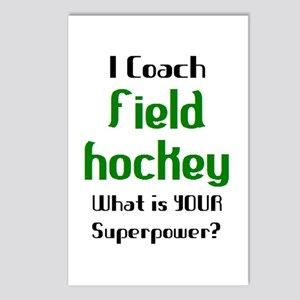 coach field hockey Postcards (Package of 8)