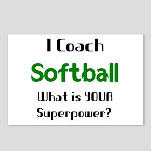 coach softball Postcards (Package of 8)