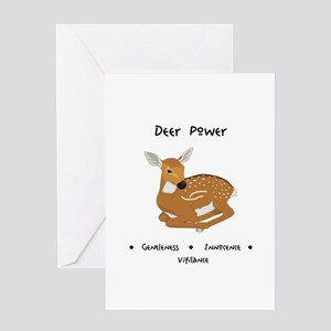 Deer Totem Power Gifts Greeting Cards