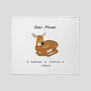 Deer Totem Power Gifts Throw Blanket