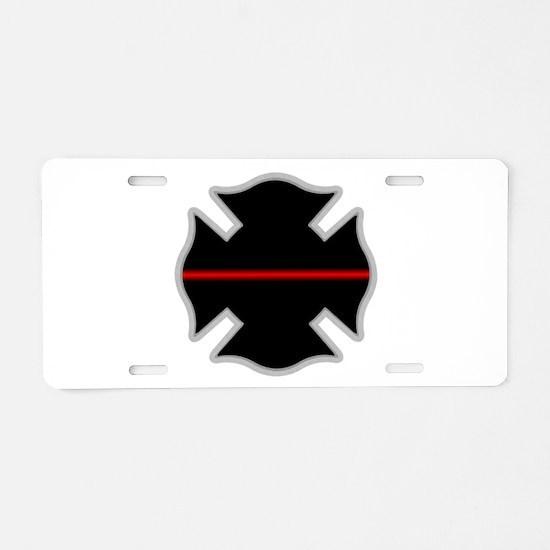 Cute Fireman Aluminum License Plate