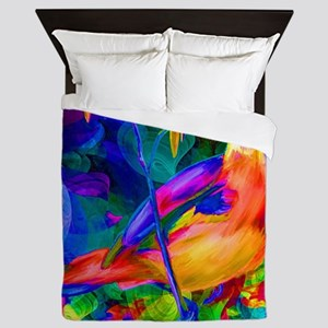 Paradise Bird Vibrant Art Queen Duvet