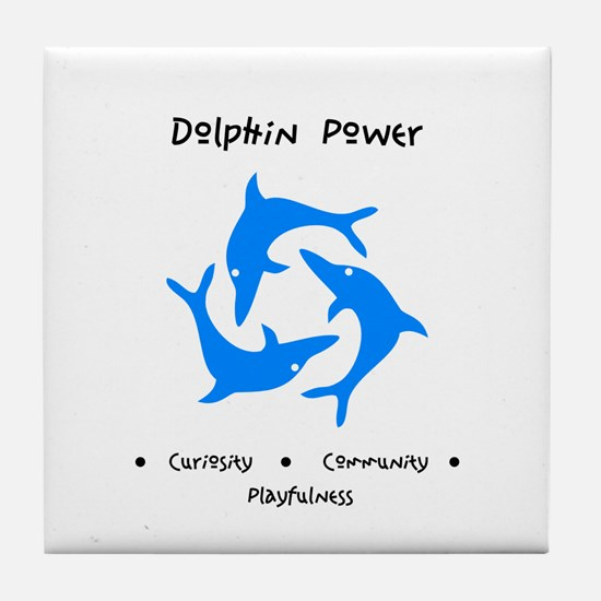 Dolphin Totem Power Gifts Tile Coaster