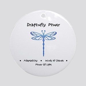 Dragonfly Light Animal Medicine Gifts Round Orname