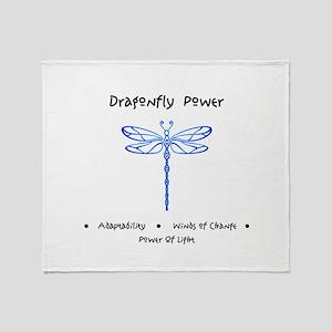 Dragonfly Light Animal Medicine Gifts Throw Blanke