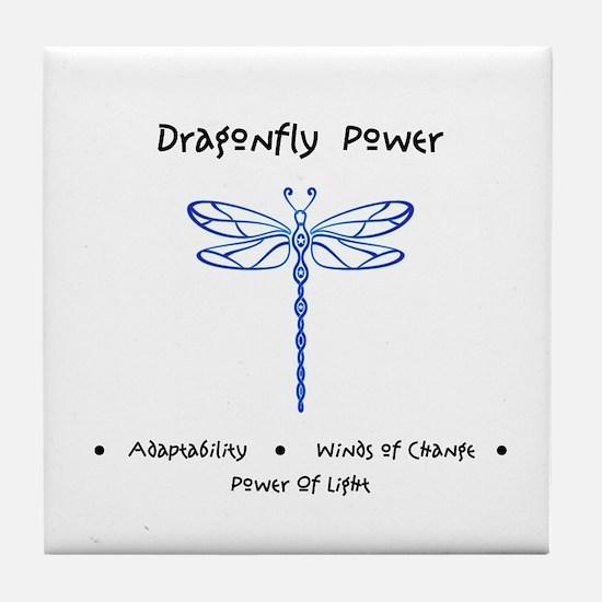 Dragonfly Light Animal Medicine Gifts Tile Coaster