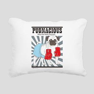 Pugnacious Rectangular Canvas Pillow