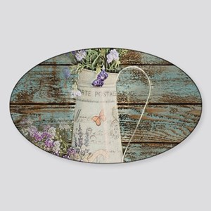 rustic lavender western cou Sticker
