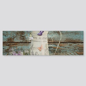 rustic lavender western country Bumper Sticker