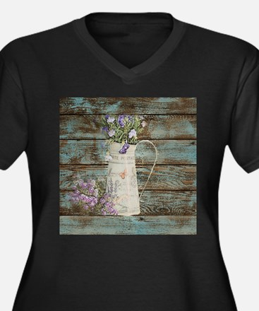 rustic lavender western country Plus Size T-Shirt