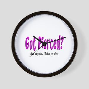 Got Pierced? Wall Clock
