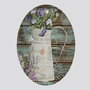 rustic lavender western country Oval Ornament