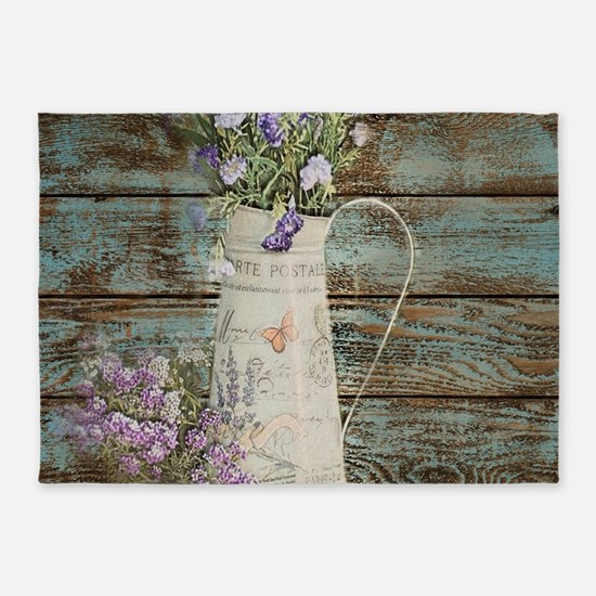 rustic lavender western country 5'x7'Area Rug